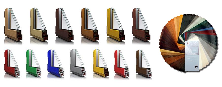 Ламіновані вікна - варіанти кольорів