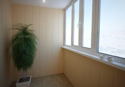 внутренняя отделка балкона вагонкой-BALKON®