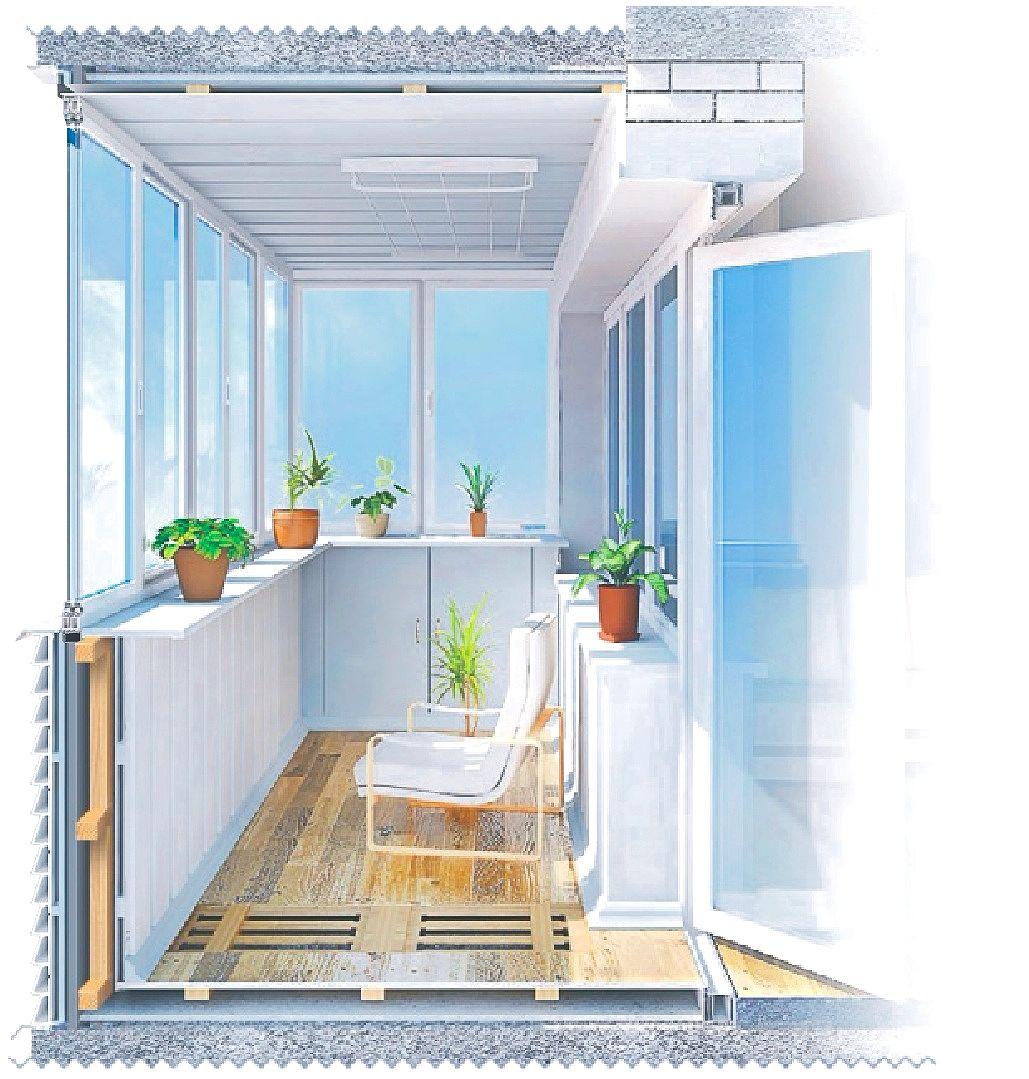 балкон под ключ хрущевка