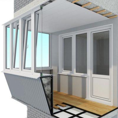 застеклить балкон в хрущевке