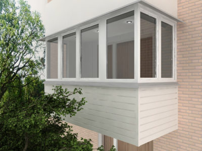 бюджетное остекление балкона