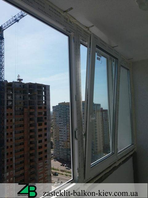 застеклить балкон под ключ в киеве, застеклить балкон под ключ,