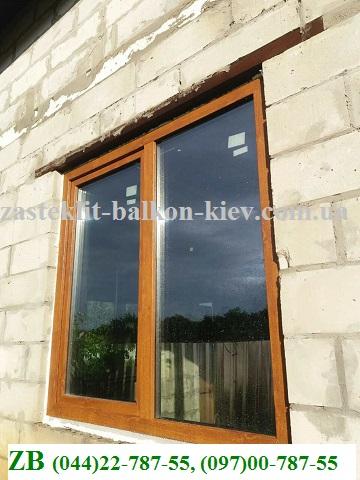 ламинированные окна цена Киев