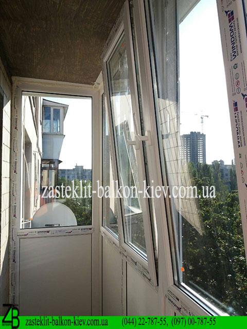 застеклить балкон французский, застеклить балкон французский в киеве,