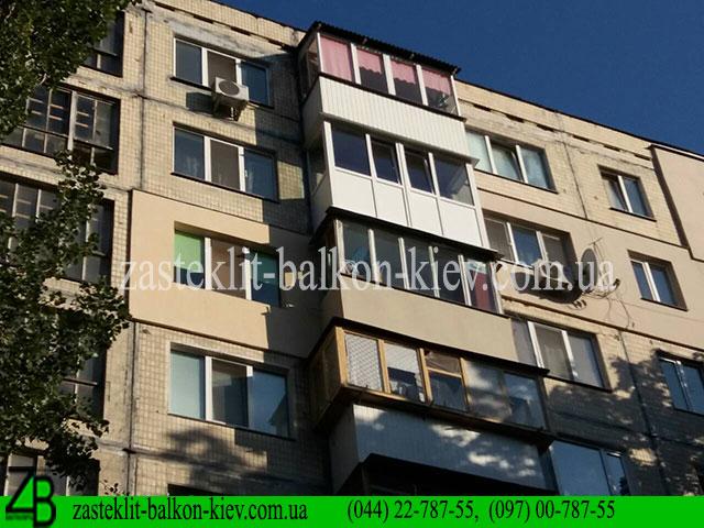 застеклить балкон французский в киеве недорого, застеклить балкон по-французски в киеве цена,