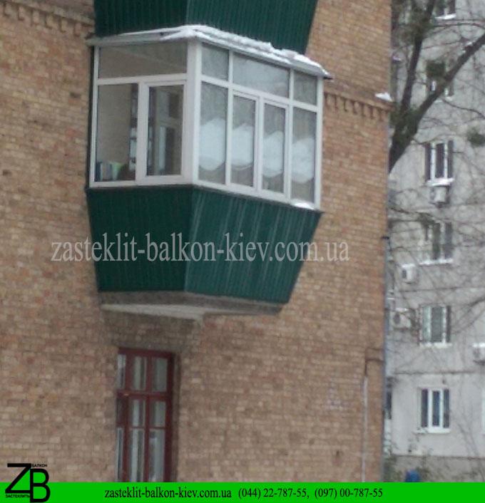 остеклить балкон, остекляем балконы недорого, остеклим балкон вкиеве, киев,