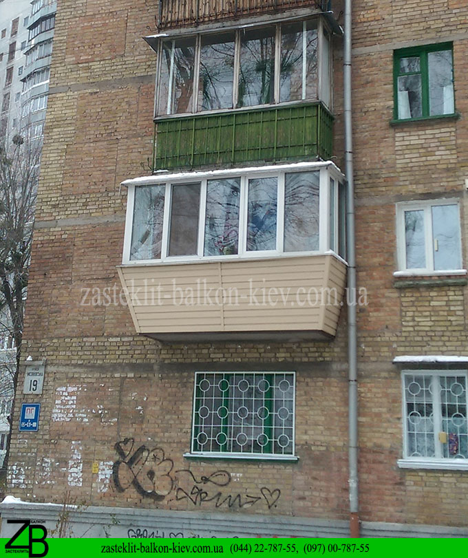застеклить балкон под ключ, застеклить балкон под ключ в киеве, цена балкона под ключ в киеве,