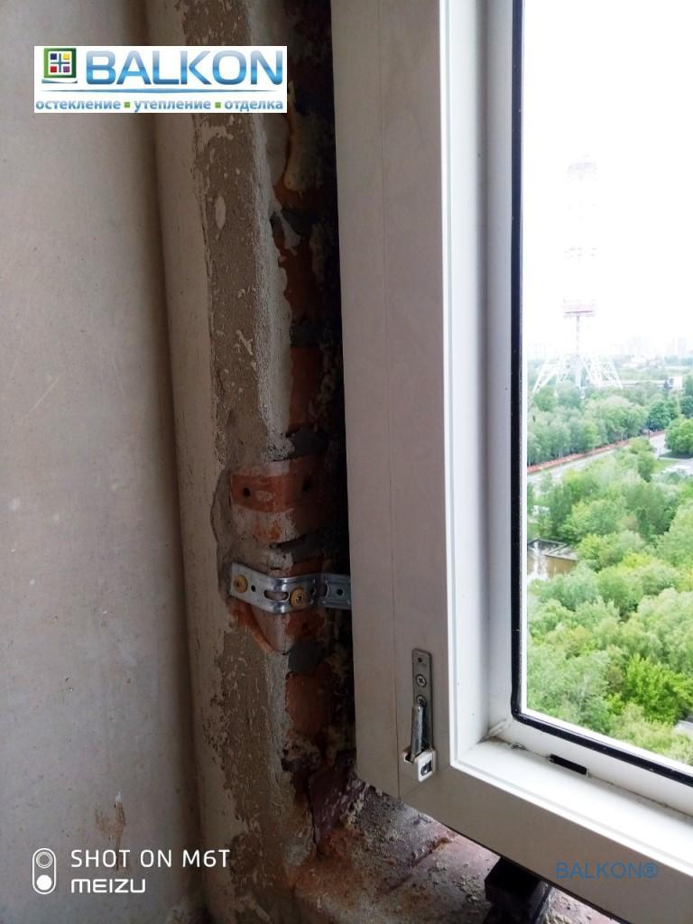 Установка окон на монтажные клинья в Киеве - бригада 13