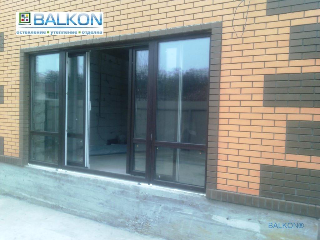 Раздвижные пластиковые окна ламинированные - компания Застеклить Балкон