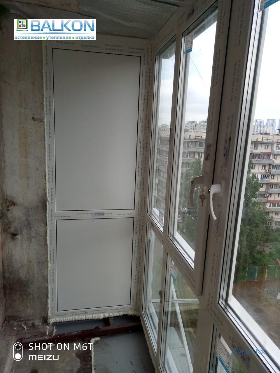 Французский балкон с выносом по полу в Киеве - бригада 14