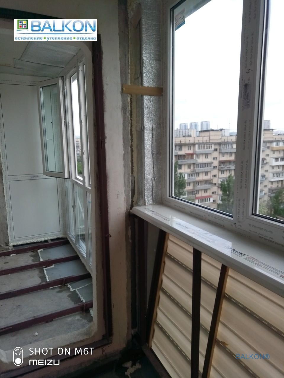 Балконы с выносом по полу Киев ул. Героев Сталинграда 25