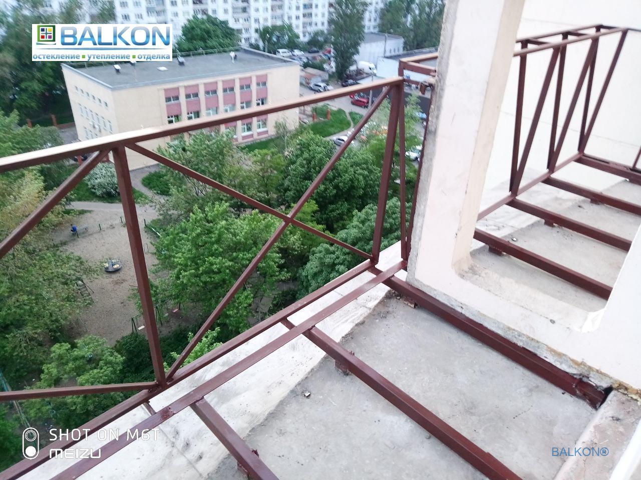 Металлический каркас под вынос по плите в Киеве