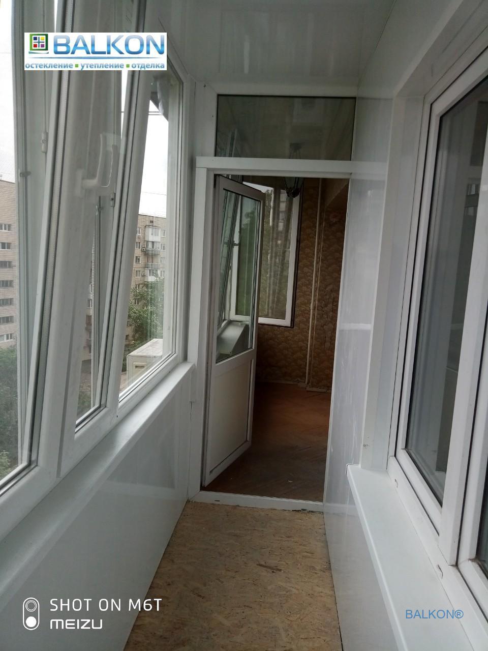 Балкон под ключ Киев ул. Малиновского 25В - фото бригада 13