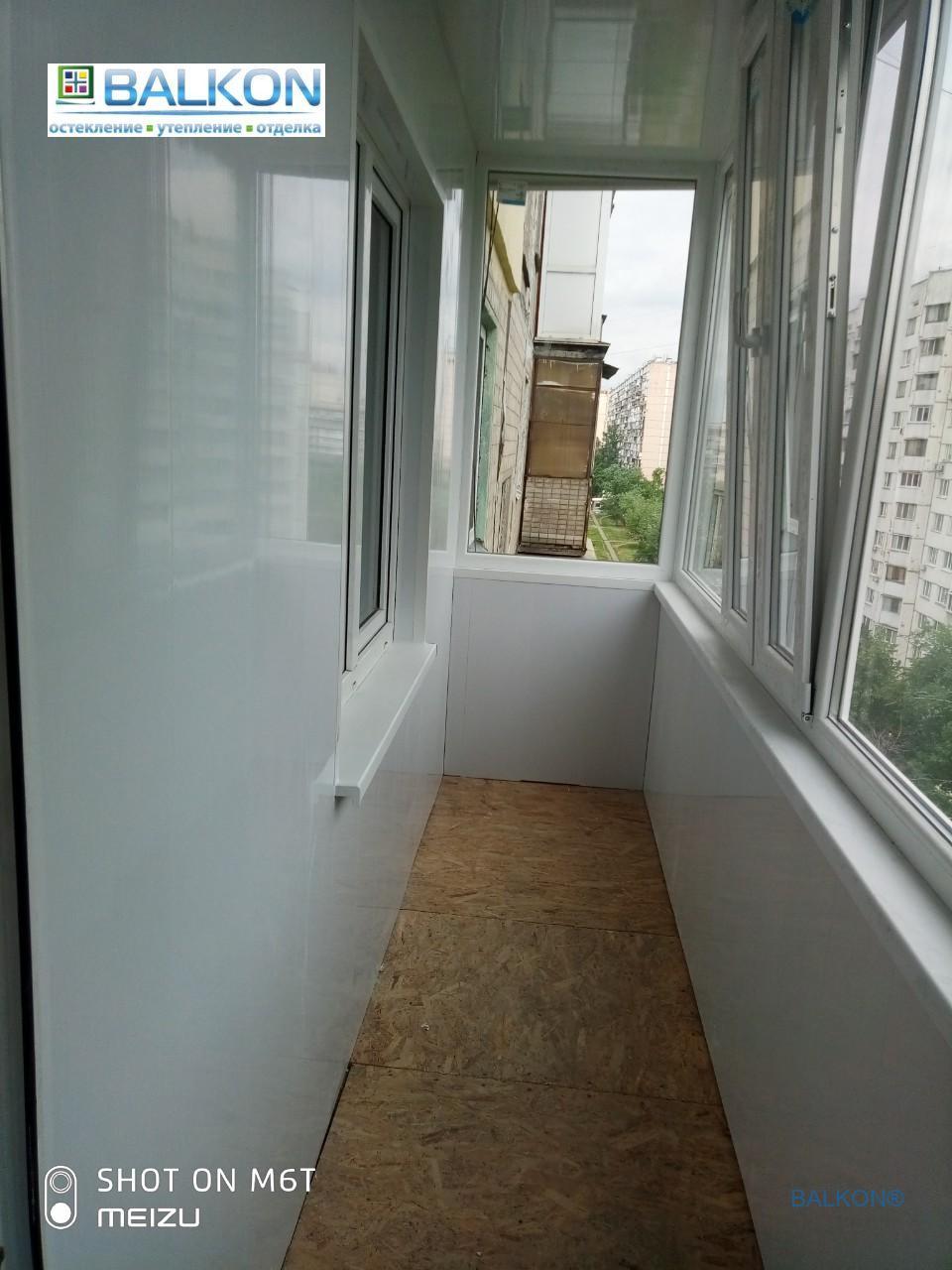 Балкон под ключ в Киеве на ул. Малиновского 25В - бригада 13
