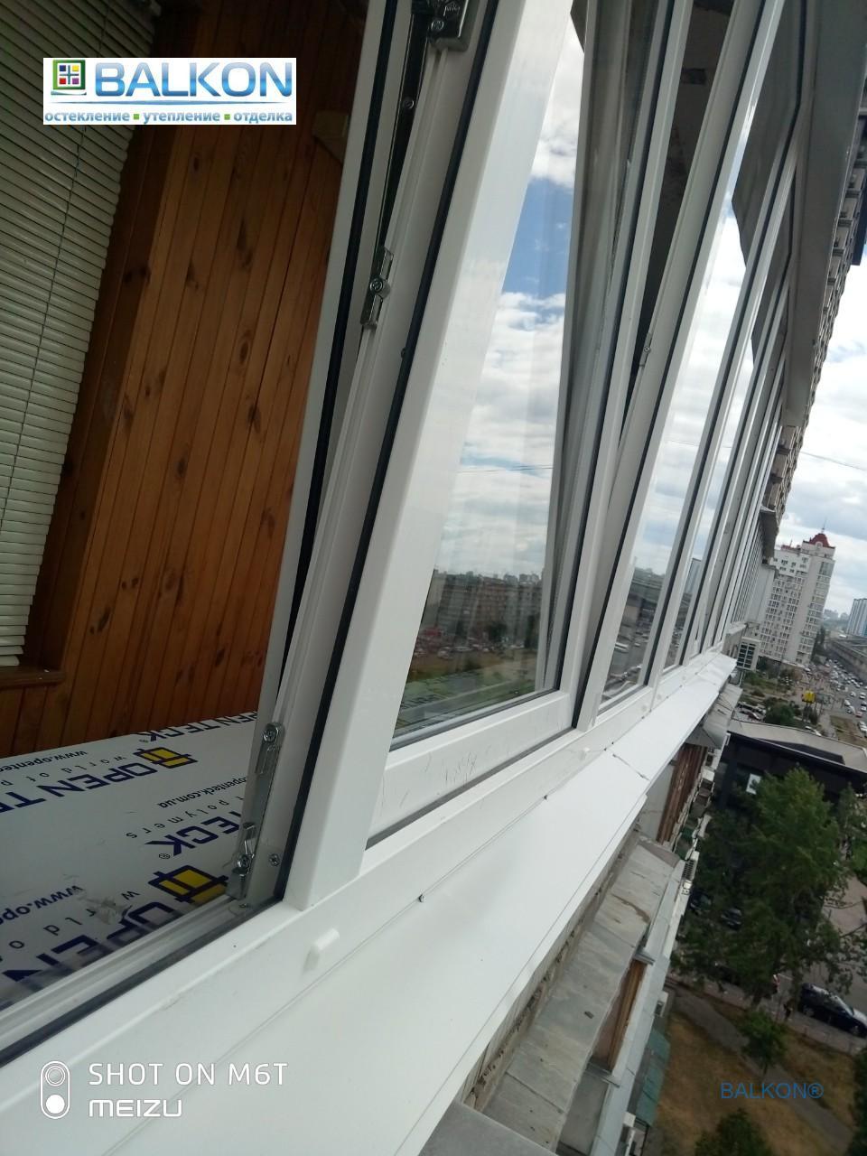 Выносной балкон Киев пр. Оболонский 28 - фото бригада 4