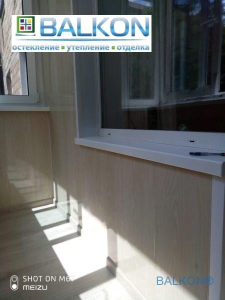 Балкон под ключ Киев на ул. Ольжича 13 - работы бригады 13