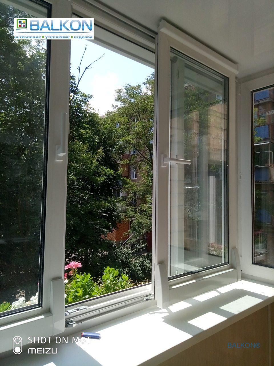 Раздвижные окна на балконе в Киеве в © Застеклить Балкон