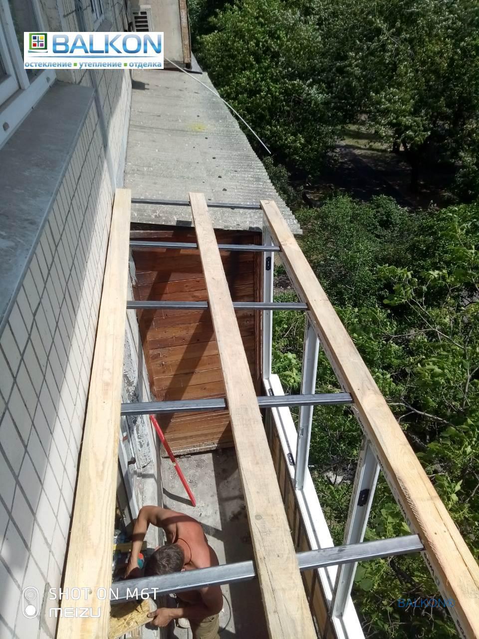 Изготовление крыши на балконе Киев - бригадой №13