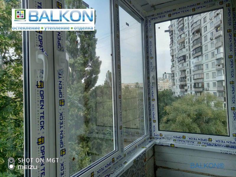 Окна Openteck на балкон Киев фото работы бригада №3