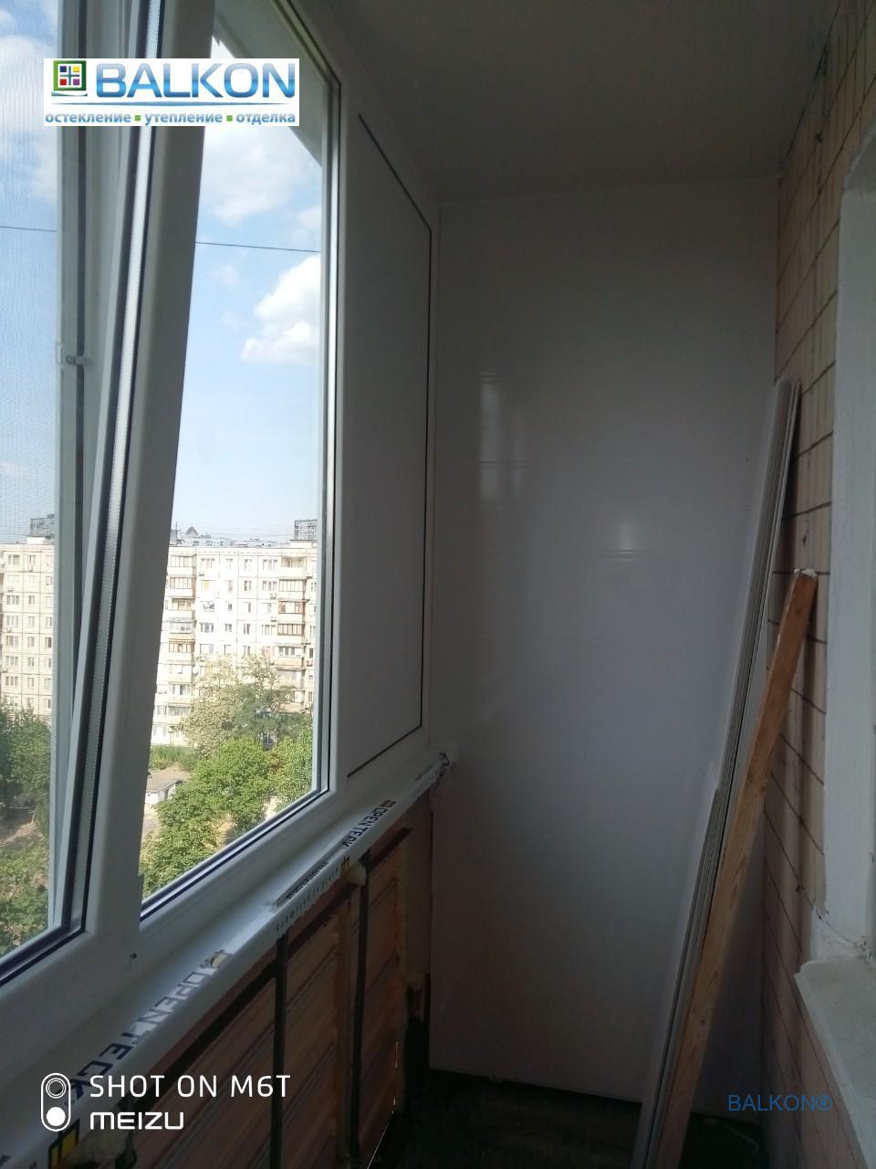 Остекление балкона Киев ул. Малиновского 3 ☞ Застеклить Балкон