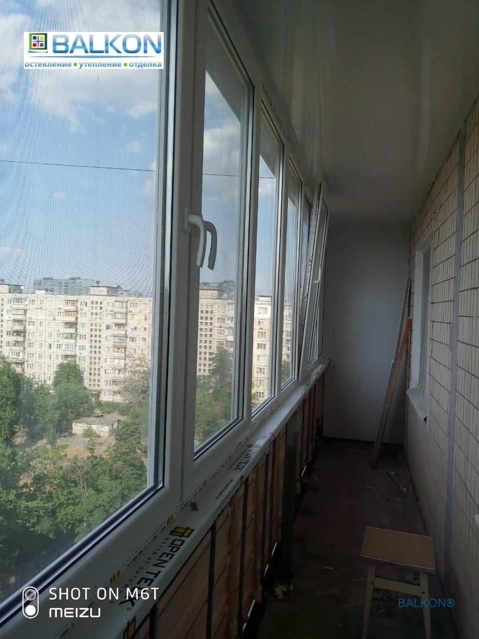 Остекление балкона под ключ в Киеве на ул. Малиновского 3