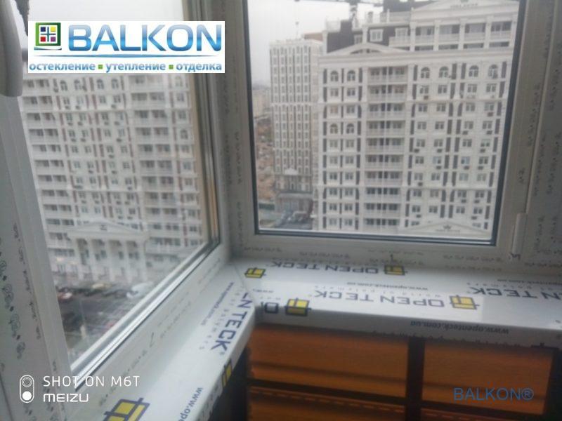 Пластиковый подоконник OpenTeck на балконе Киев ул. Максимовича 9 фото 14 бригады
