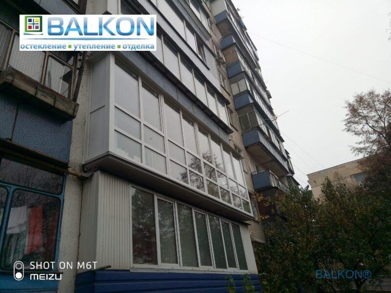 Французский балкон с выносом по плите фото работы 14 бригады