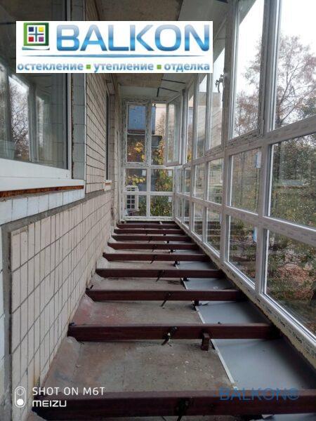 Расширение балкона по полу Борисполь фото 14 бригады