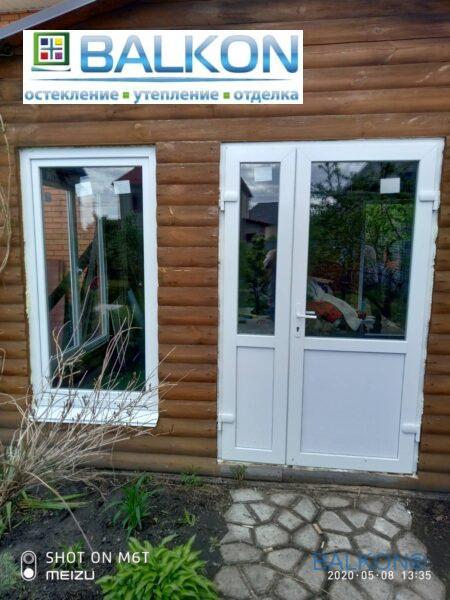 Пластиковые окна и двери на дачу Бортничи ул. Ялинкова фото бригады 4