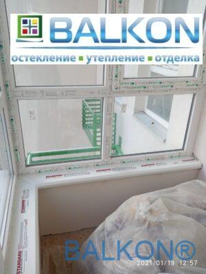 Пластикове підвіконня Danke (Данке) на балконі